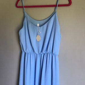 Blue Pink Blush Maternity Maxi
